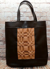 *LaVanda* Hand Made Bag,Tote, Shopping Bag, Faux Leather,Brown Gift