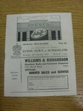 09/01/1965 Luton Town v Sunderland [FA Cup] (Folded). Condition: We aspire to in