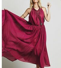 Free People Major Maxi Crochet Easy Breezy Boho  Slip Dress Size Small