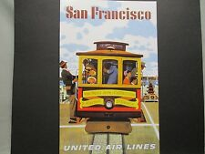 United   Airline  Travel Poster San Francisco  American Express Travel Office