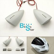 White Custom LED Mirrors Turn Signals Fit Suzuki GSX-R 600 750 2006-2007 BS1