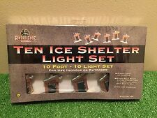 "New Set Of 10 ""Gone Fishing"" Ice Shelter Blow Mold Patio/Party/RV Novelty Lights"