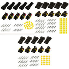 5 Kits 2&3&4pins Sealed waterproof electrical Wiring auto connector plug car set