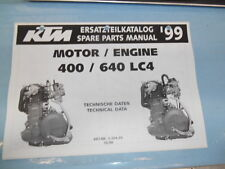 1999 KTM 400 640 LC4 Engine Spare Parts Manual 320470