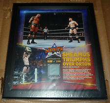 WWE PLAQUE SUMMER SLAM SHEAMUS TRIOMPHS ORTON #5/199 ONLY 199 IN THE WORLD RARE