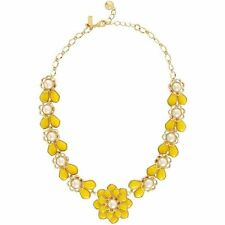 Kate Spade Sweet Zinnia Yellow Necklace NWT Amazing Yellow & Gold Classic Style!