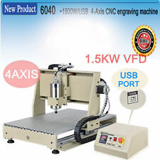 4 Axis 6040 CNC Router Engraver Drilling Milling Engraving Machine USB Port