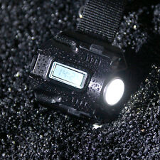 Outdoor Sports LED Rechargeable Tactical Wrist Watch Flashlight Torch Lamp 4Mode