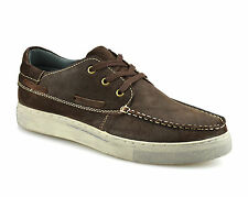 Mens Leather Lace Up Casual Boat Deck Mocassin Walking Driving Trainer Shoe Size