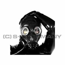 DELUXE GAS MASK + LATEX HOOD SET FETISH CATSUIT TOP BODY BAG LEATHER CAPE CORSET