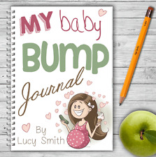 A5 PERSONALISED PREGNANCY DIARY, WIRE BOUND PREGNANCY JOURNAL, GIFT, OWN NAME,04