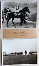 2 PHOTOS COURSE CHEVAUX FOXY ARABIAN SAINT CLOUD PRIX DES ALLUETS 1956 WELL k858