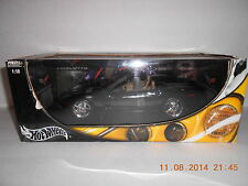 2003 Corvette C6 Convertible Hot Wheels Die-Cast 1:18 Black  New In Box