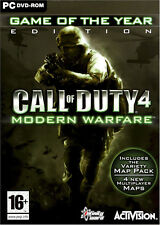 CALL OF DUTY 4 MODERN WARFARE GOTY PC GAME OF THE YEAR NEW/SEALED XP/VISTA/7/8