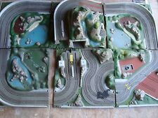 6 SECTIONs JAMES BOND 007 ROAD RACE GILBERT SLOT CAR  SET, TRANSFORMER, 2 CTRL +