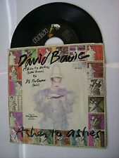"DAVID BOWIE - ASHES TO ASHES - 7"" VINYL U.S.A. PRESS - EXCELLENT 1980"