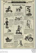 1933 PAPER AD Mechanical Toys Popeye Boxing Felix The Cat Scooter Marx Comic Cop