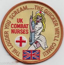 UK Combat Nurses Army Navy RAF Embroidered Crest Badge Patch MOD Approved