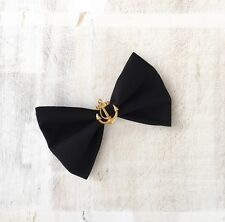 Black with gold vintage anchor pin up sailor nautical hair bow