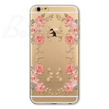 Silicone TPU Soft Transparent Printed Cover Case For iPhone 4S 5C 5S 6 6S 6SPlus