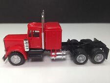 HO 1/87 Promotex/Herpa # 25233  Peterbilt Conv. Tandem Tractor w/sleeper Red