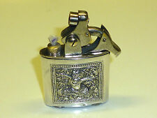 "KELLERMANN ""DERBY"" POCKET LIGHTER WITH SILVER ""RELIEF"" CASE - 1929 - GERMANY"