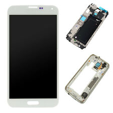 White LCD Display Touch Screen Digitizer Assembly+Frame For Samsung Galaxy S5
