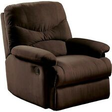 Recliner Chair Oakwood Microfiber Furniture Reclining Home Living Room Chocolate
