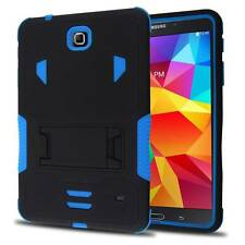 "Blue Hard Shell Box Case Stand Cover for Samsung Galaxy Tab 4 8 8.0"" SM-T330NU"