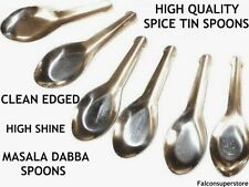 7 Spice Small Miniature Spoons for Indian Masala Dabba Spice Storage Set Tin Box
