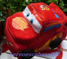 New Disney Cars Red School Bag Plush Backpacks Cute Lovely GIFT For Kids