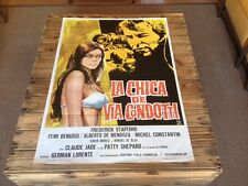 Used - LA CHICA DE VIA CONDOTTI - Vintage Movie Film Poster Cartel Cine -  1974