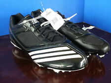 Brand New~ADIDAS~Black & White SCORCH THRILL D LOW Football CLEATS~Mens 15~NWT
