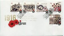 2016 Centenary of World War I (Gummed Stamps) FDC - French's Forrest NSW 2086 PM