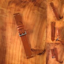 Tan Whiskey 20mm Minimal Stitch Vintage Style Shell Cordovan Watch Strap