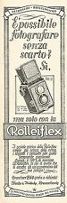 W2199 Con ROLLEIFLEX fotografi senza scarto - Pubblicità del 1931 - Old advert