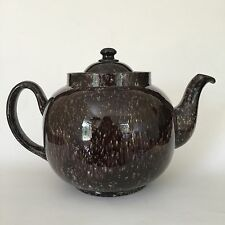 Vintage ALB Alcock Lindley Bloore Teapot Brown England 8th 9th Anniversary Gift