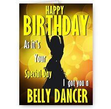 Got vous une danseuse du ventre funny novelty A5, happy birthday card