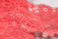 """2 yds Orange Coral sewing lingerie headband sew craft trim stretch lace 3"""" wide"""