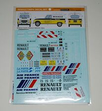 Décalques pour maquette Renault 4 berline et fourgonnette HELLER EBBRO éch. 1/24