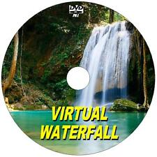 SOOTHING VIRTUAL WATERFALL DVD VIDEO VIEW ON FLATSCREEN, PLASMA, LED TV/PC NEW