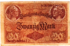 1914 German Empire 20 Mark Banknote