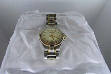 Mens Gucci Watch Stainless/Gold Accents Model 9040M