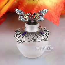 Vintage Metal Butterfly Refillable Crystal Perfume Bottle Wedding Decor Gift40ML