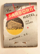Vintage advertising match book: The Charleston Hotel and Sanborn Hotel, S.C.