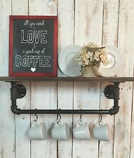 Industrial Kitchen Shelf- Black Pipe Shelf-Kitchen Shelf-Coffee Bar