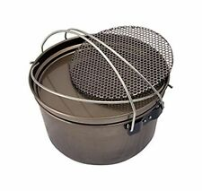 Steel Camp Oven 12 inch 5 in 1 with Frypan Hang Pan Boiling Pot Trivet