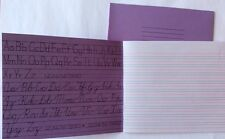 2x Traditional Cursive Handwriting Exercise Book Guide Lines Neat School Writing