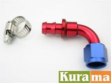 AN10 90 degree Push On Hose Car Performance Aluminum Fittings Adapter Elbow -10
