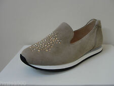 K&S taupe suede trainer style loafers with Swarovski crystals, UK 7.5, BNWB